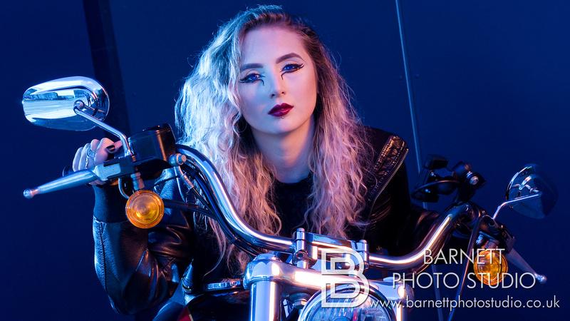 Lydia & her Harley Davidson